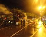 Quận 2 - cháy xe chở hàng đang lưu thông trên đường Mai Chí Thọ.